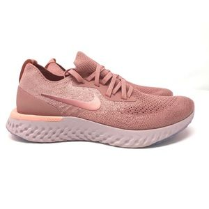 New Women's Nike Epic Flyknit in Rust Pink Size 8